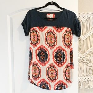Anthropologie Colorful Printed Tee